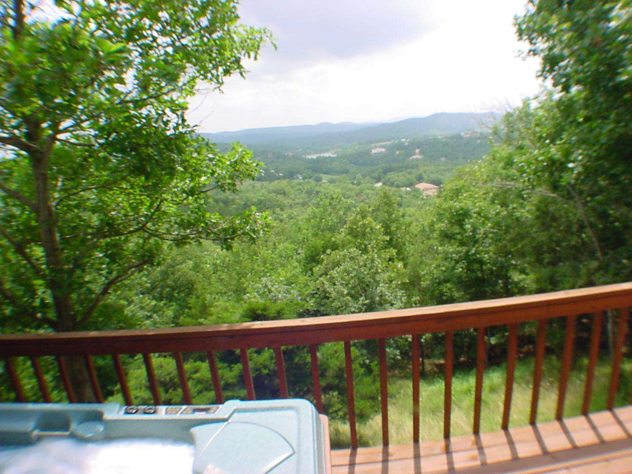 Hot tub and view from the deck