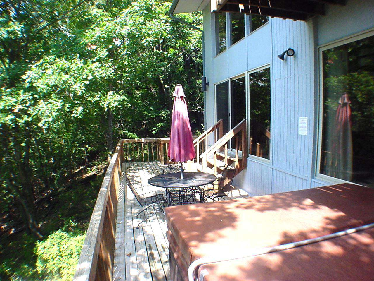 Main deck with hot tub