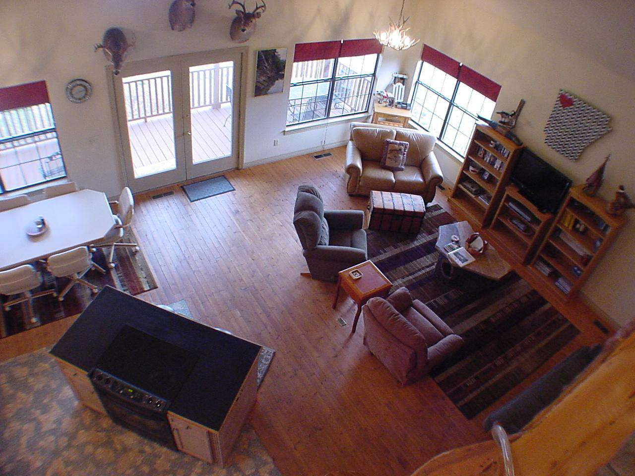 Living room from upstairs landing