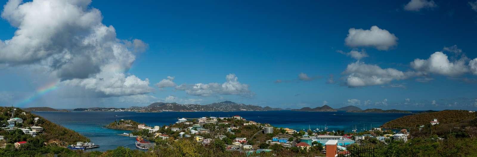 View of Cruz Bay from Villa