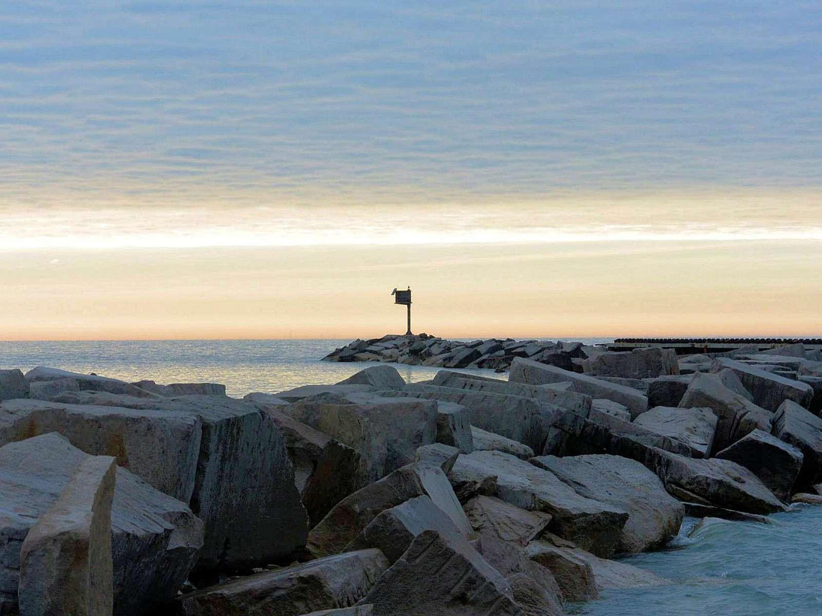 Breakwater Sunset - New Buffalo