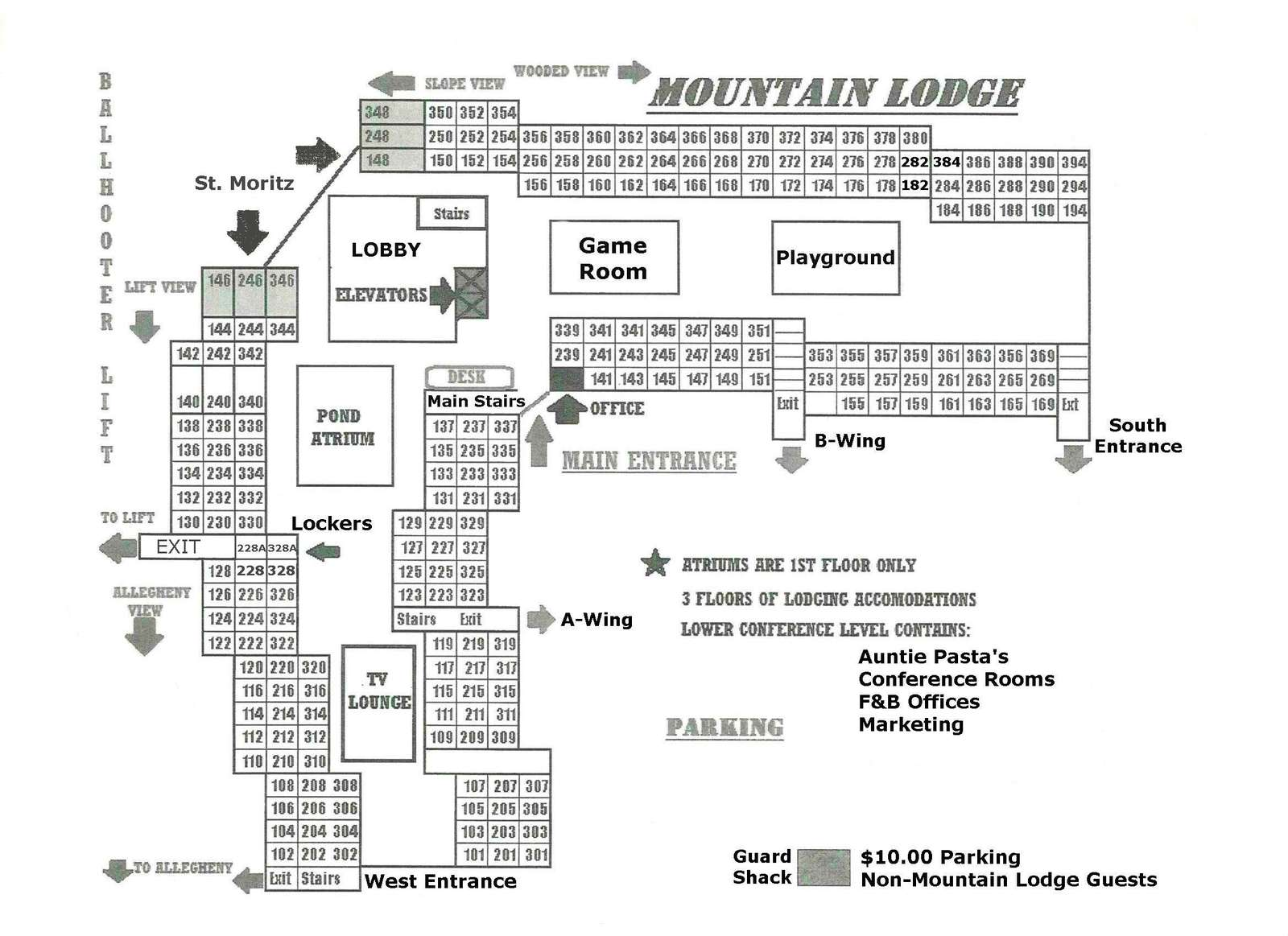 Mountain Lodge Floor Plan