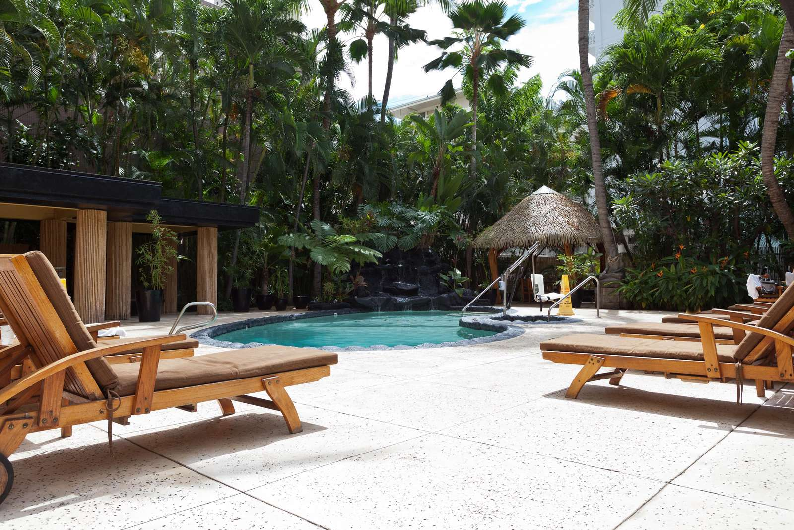 Spend your days relaxing in this tropical oasis.