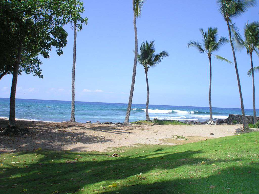 Honl's beach is a 5 minute walk from Kona Pacific.