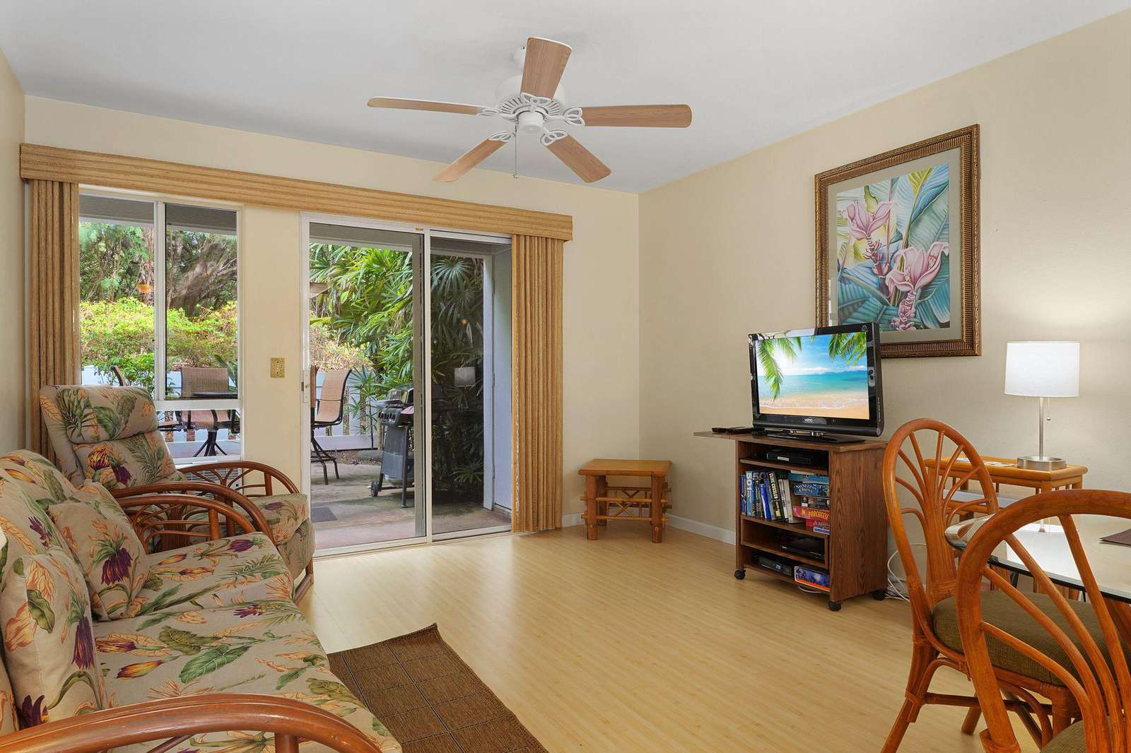Relax in this ground floor condo located in the far back of the community with a huge 'green space' behind.