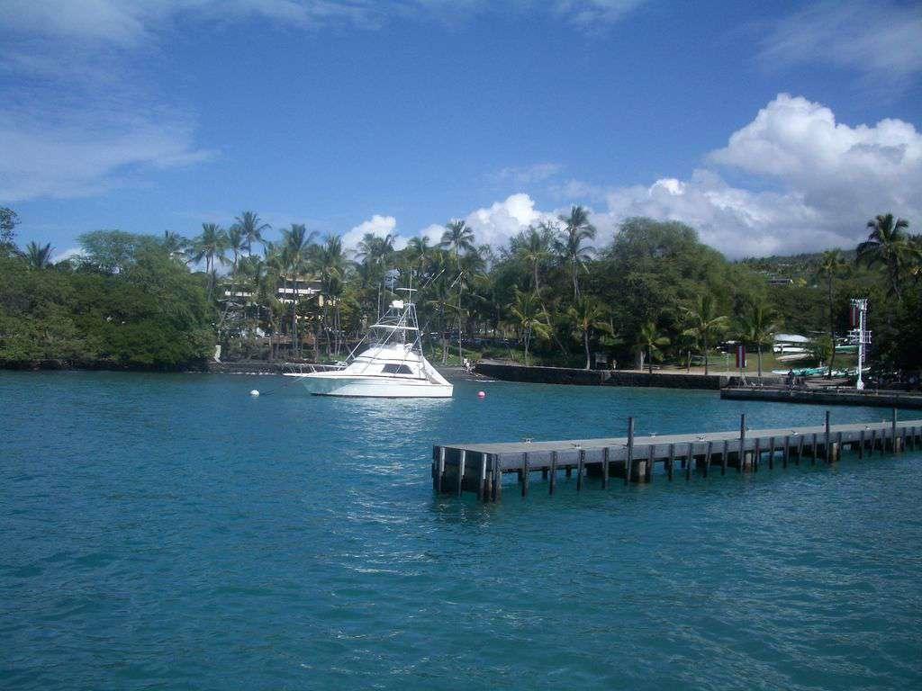 "Walk to Keauhou Bay for fishing or enjoy a ""snorkel tour"" on a catamaran."