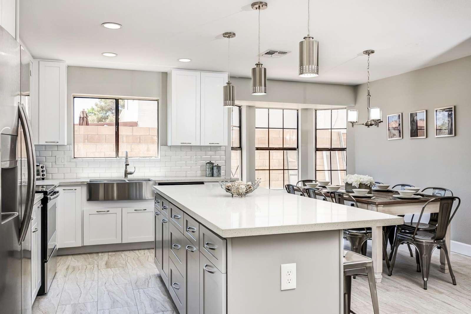 Custom Kitchen - Stainless Appliances