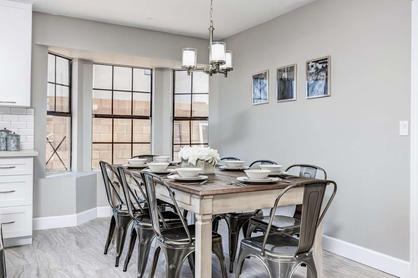 Formal Dining for 8, Plus 4 Barstools.