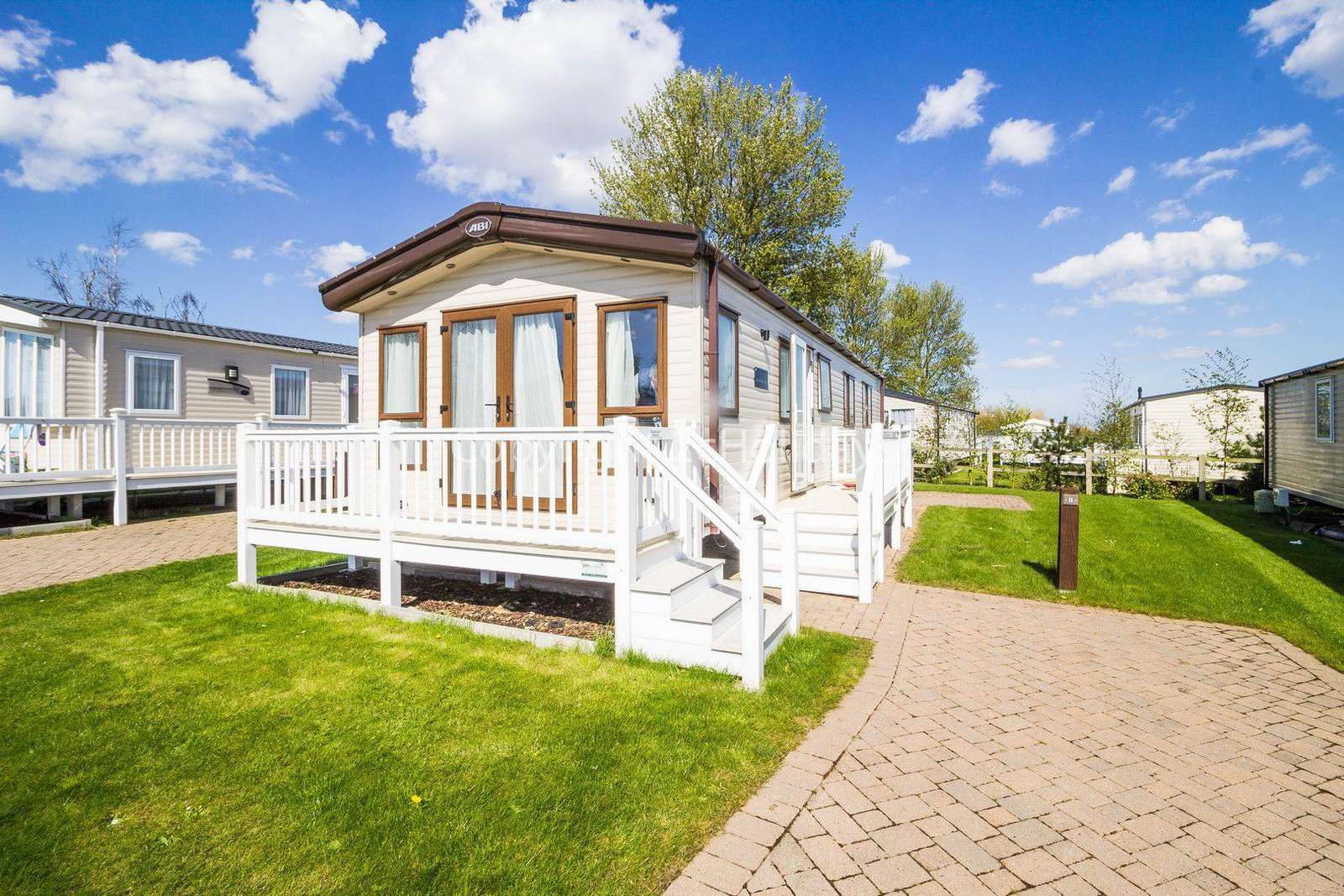 2 bedroom accommodation with decking at the Caister Haven Holiday Park - property