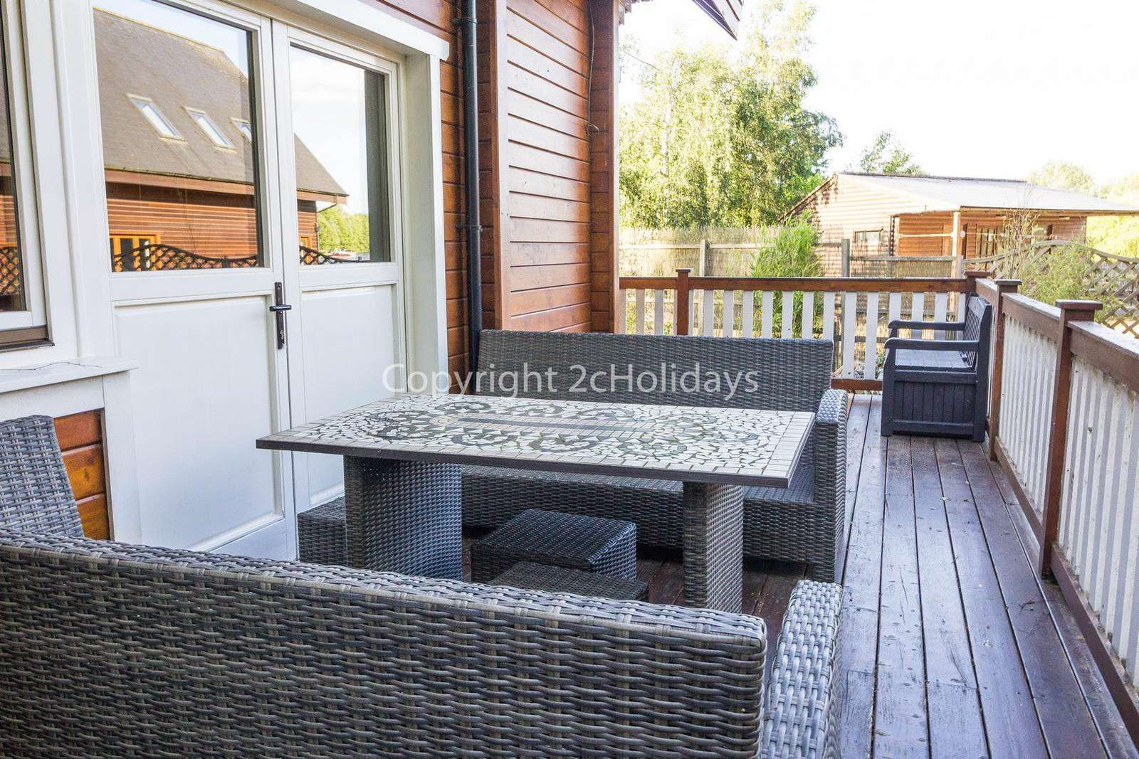 Great patio area with space for a BBQ