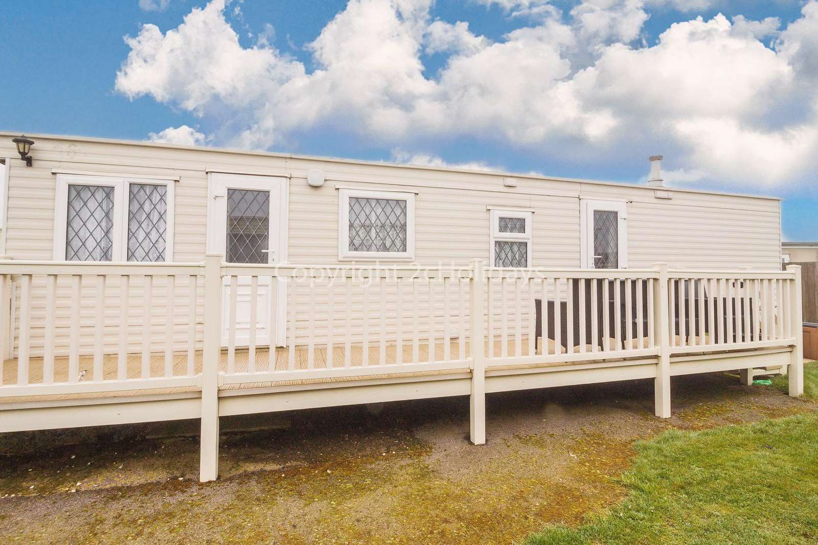 Large decked area, ideal for families!