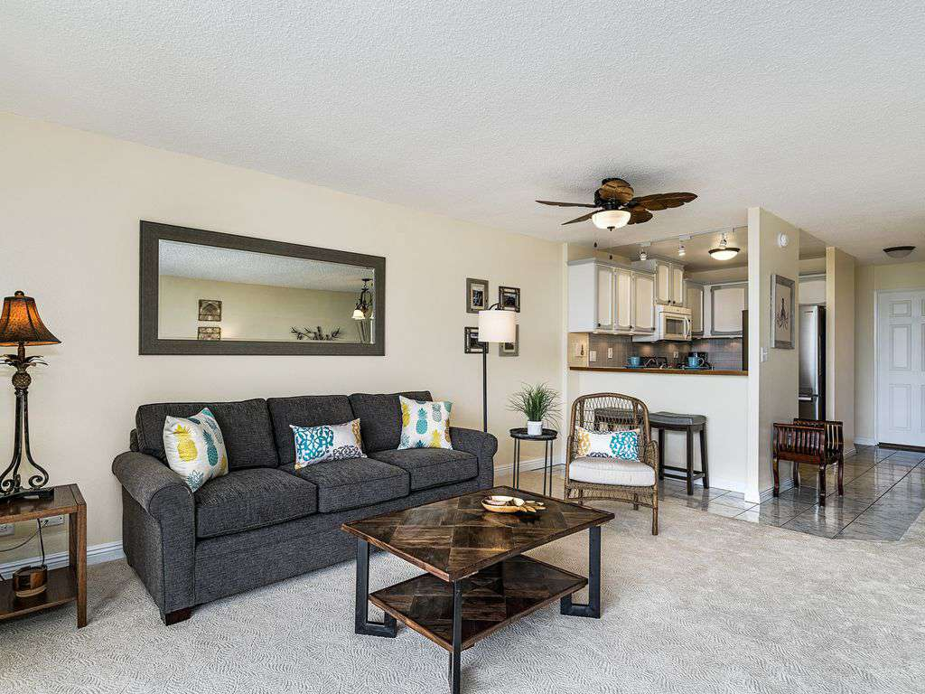 SPACIOUS LIVING AREA W/ SOFABED