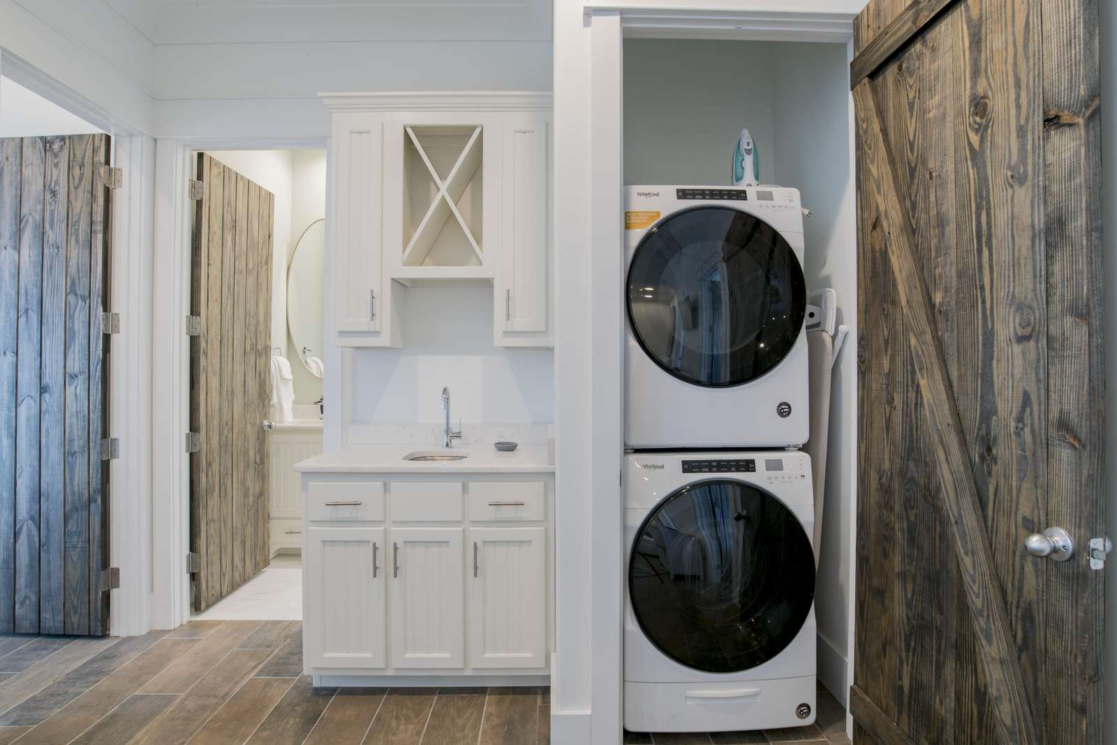 2 Full Sets of Stack Washer and Dryers. 1 on 2nd floor and 1 on 3rd floor.