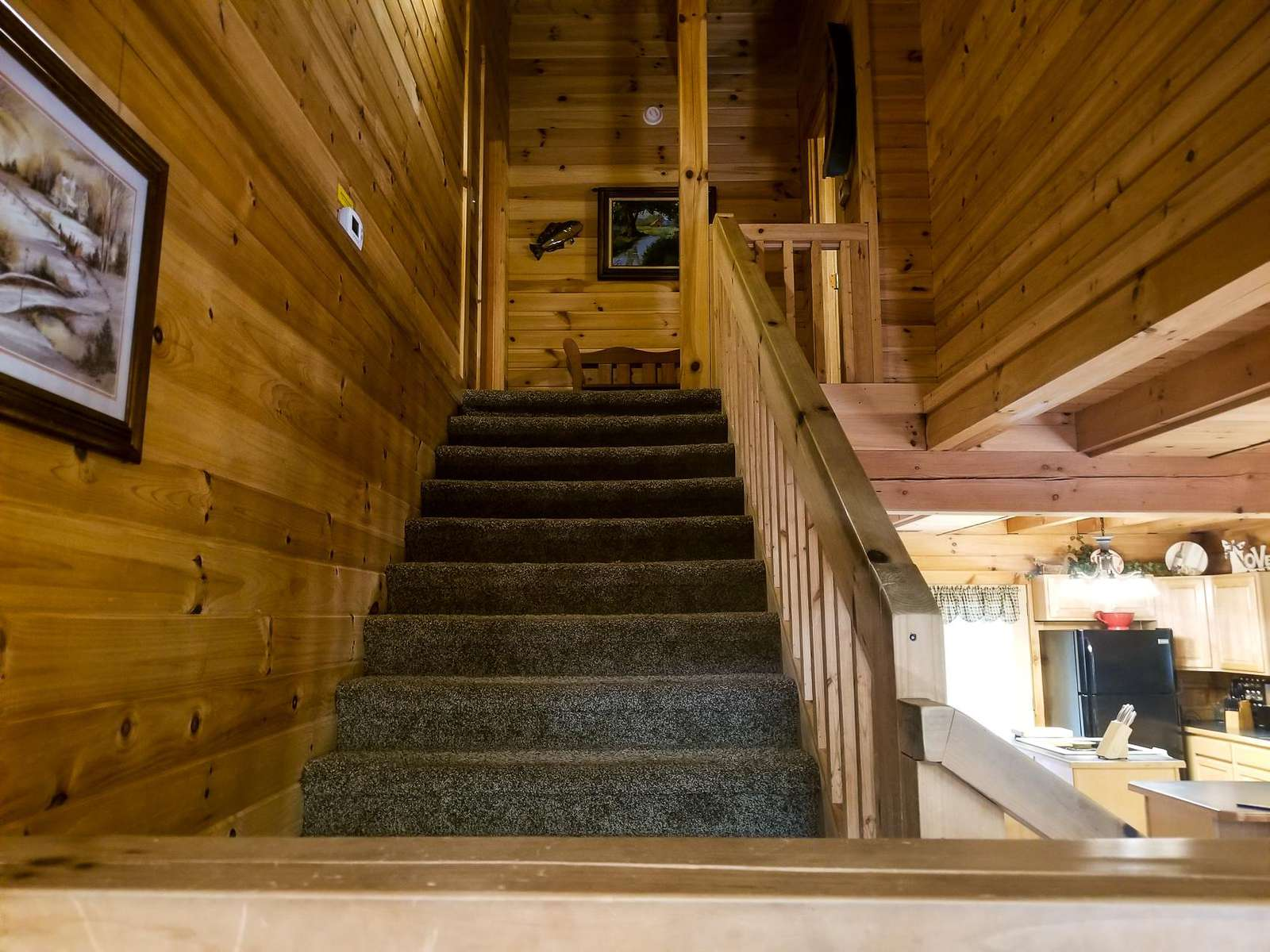 Staircase to Two Bedrooms