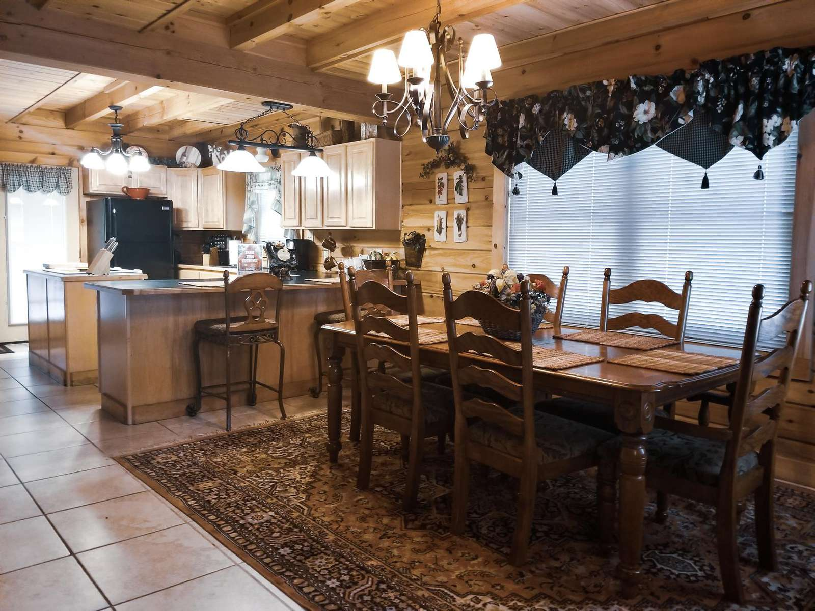 Large Dinning Room with an Open Floor Plan Into the Kitchen