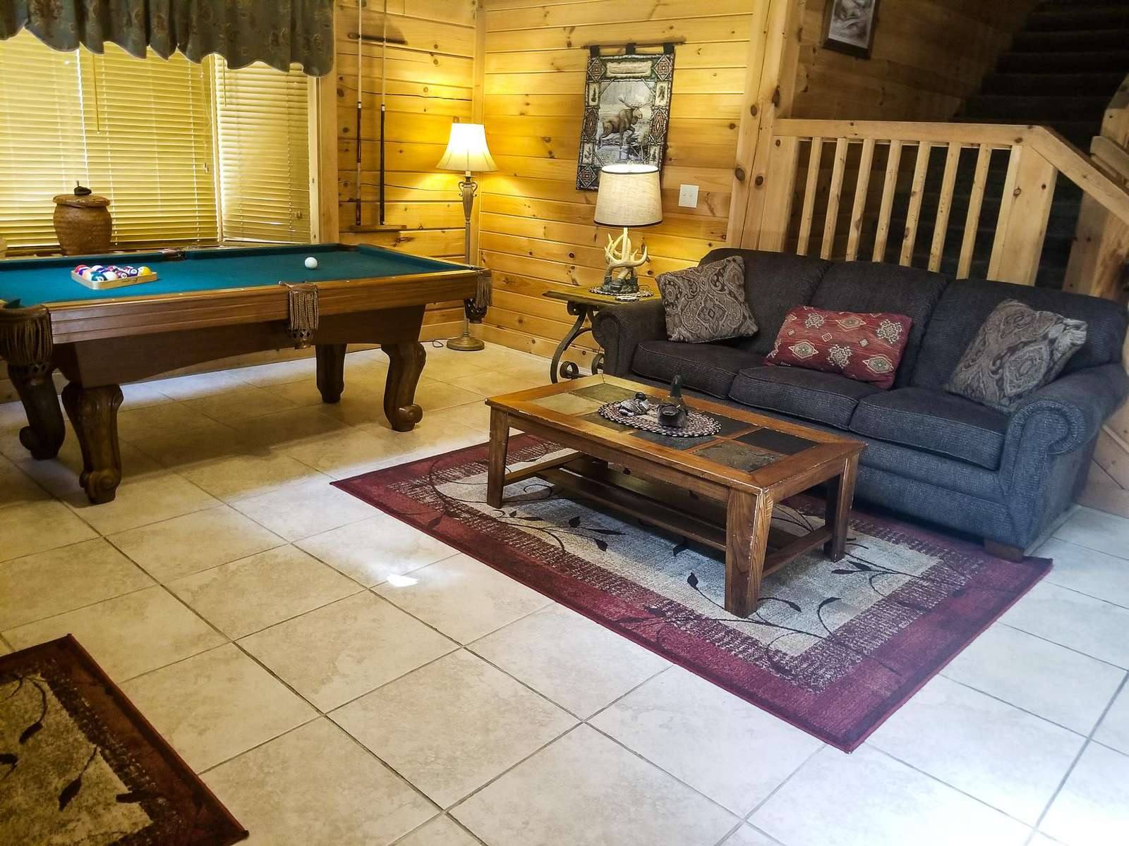 Pool Table In Living Area