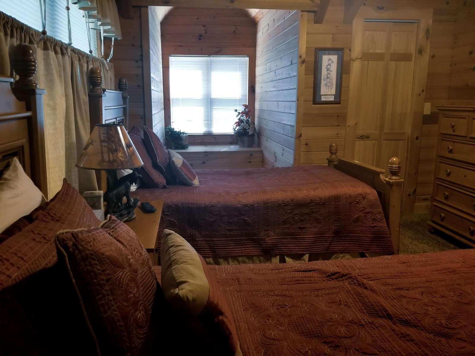 Window Seat in Upstairs Bedroom