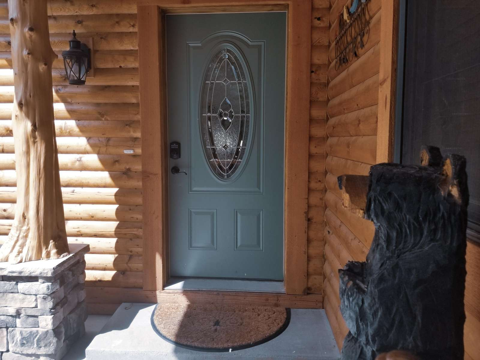Rustic Touches on Front Porch