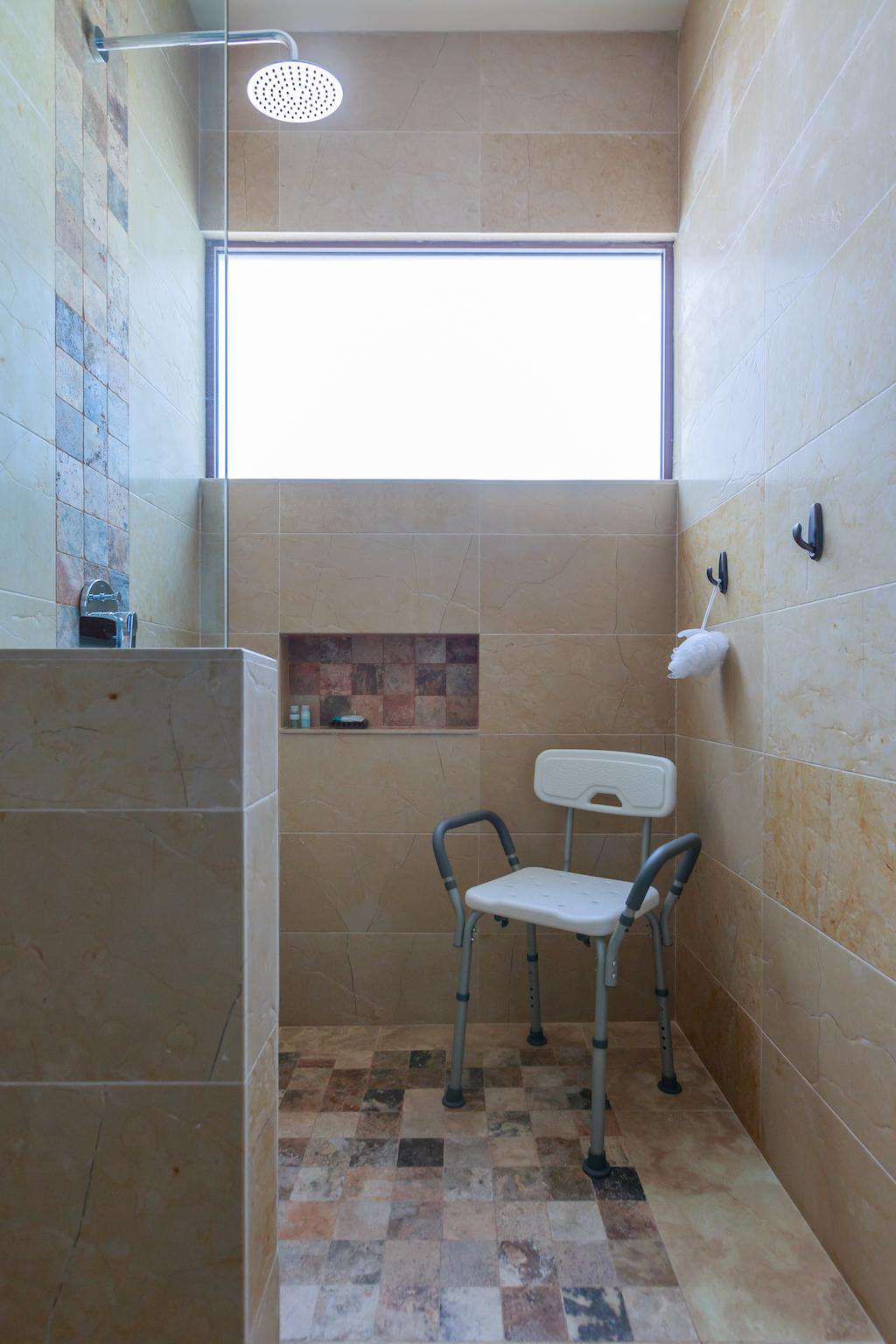 Wheel chair accessible shower