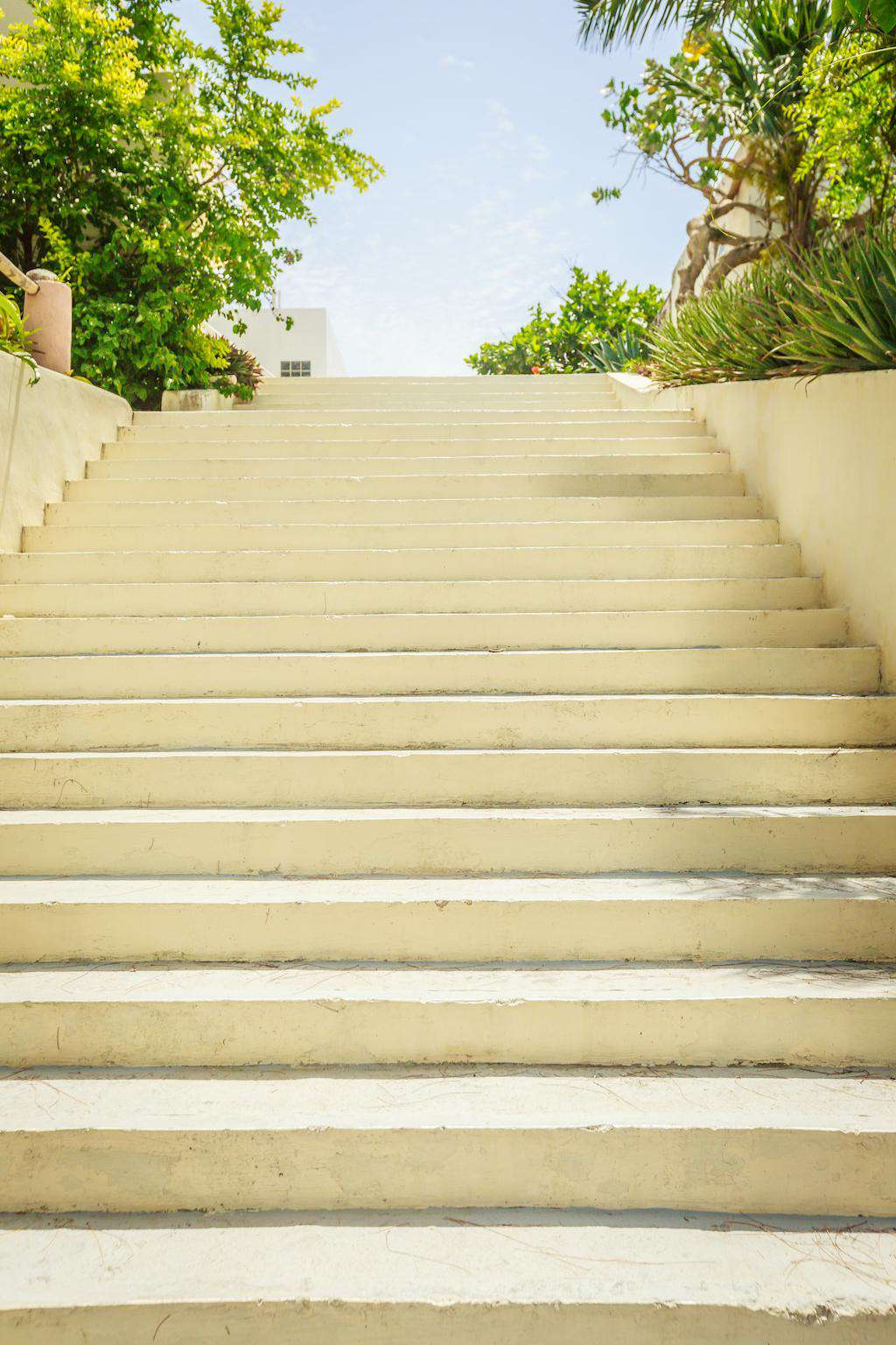 Stairs leading up to Casa Oasis