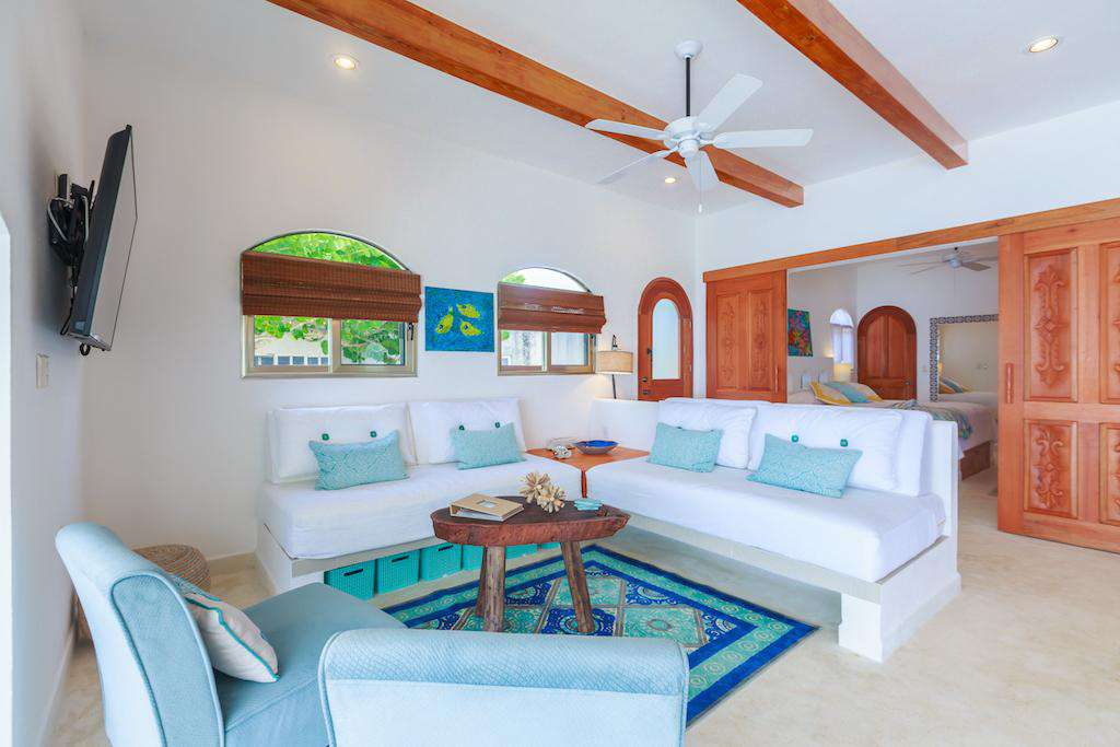 Comfortable sofas in the den