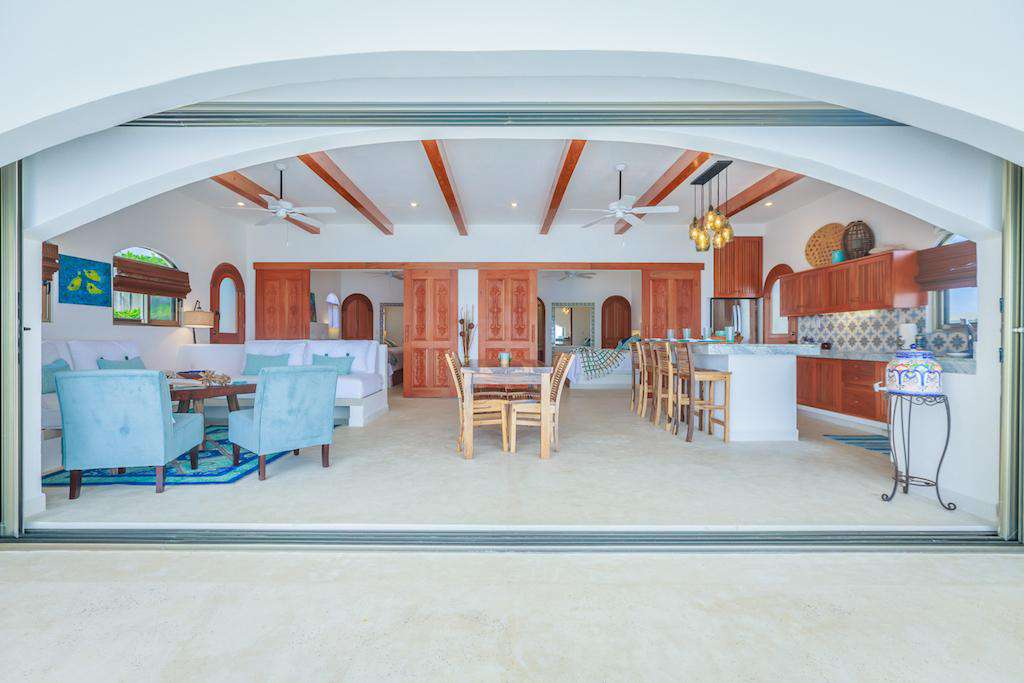 Allow the outside in when you open the large living area doors