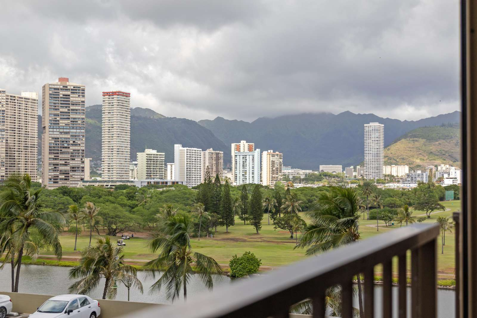 View of Ala Wai Canal & Golf Course from Lanai