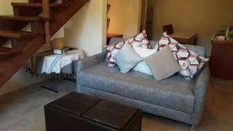 Queen sofa bed in Casita living room thumb