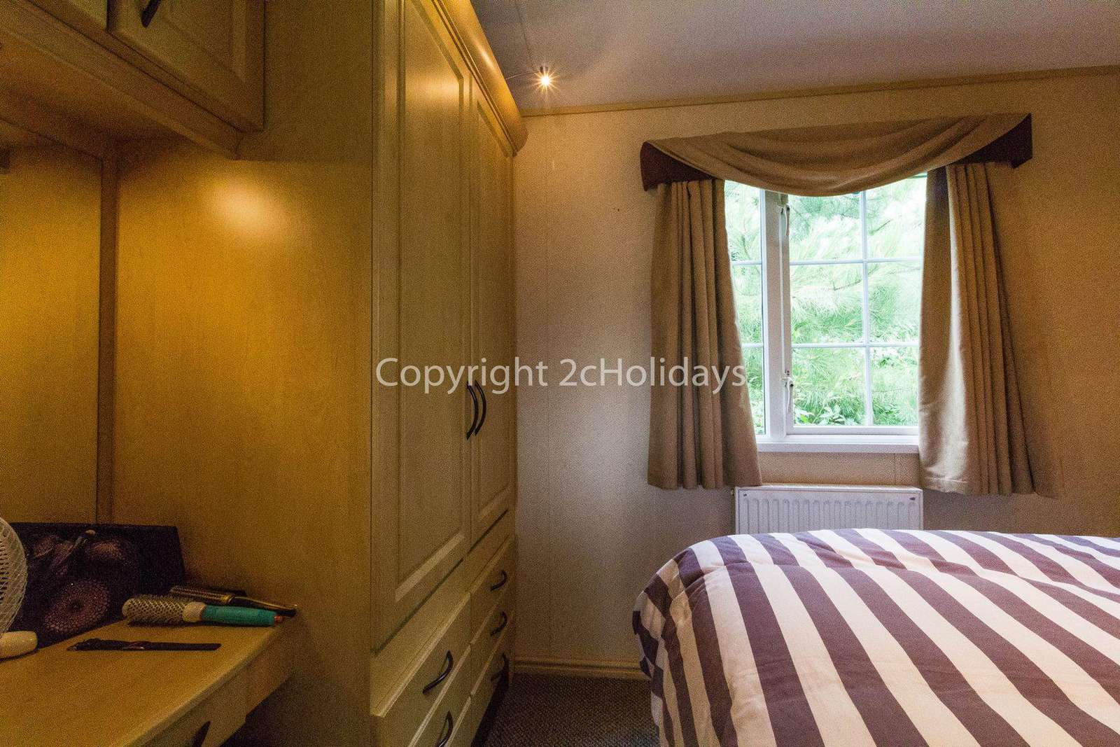 Great wardrobe space in this spacious caravan.