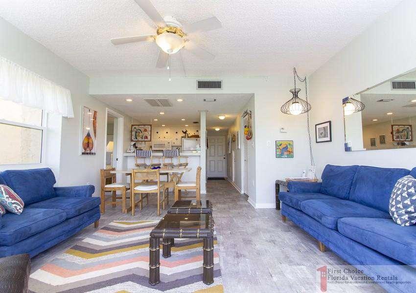 Creston House 11E Living Room from Sliding Doors