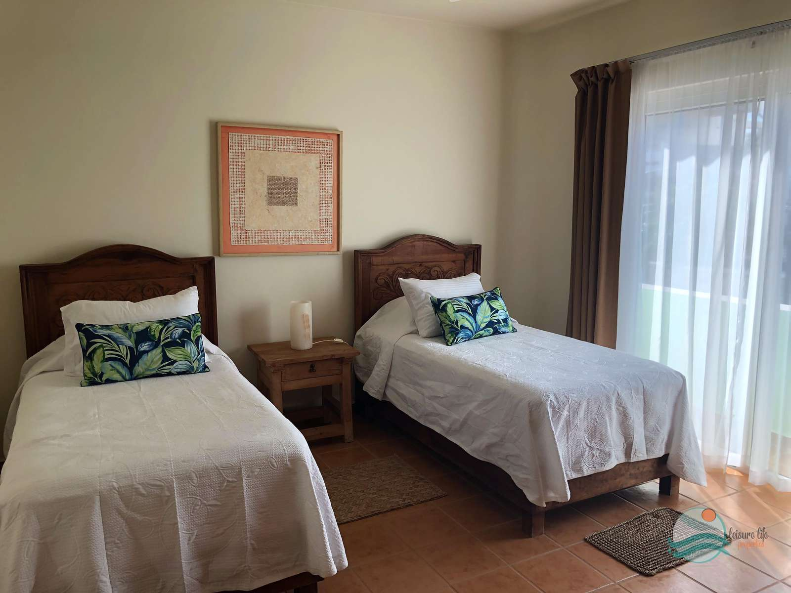 Guest BR Configured with two beds or can be joined.