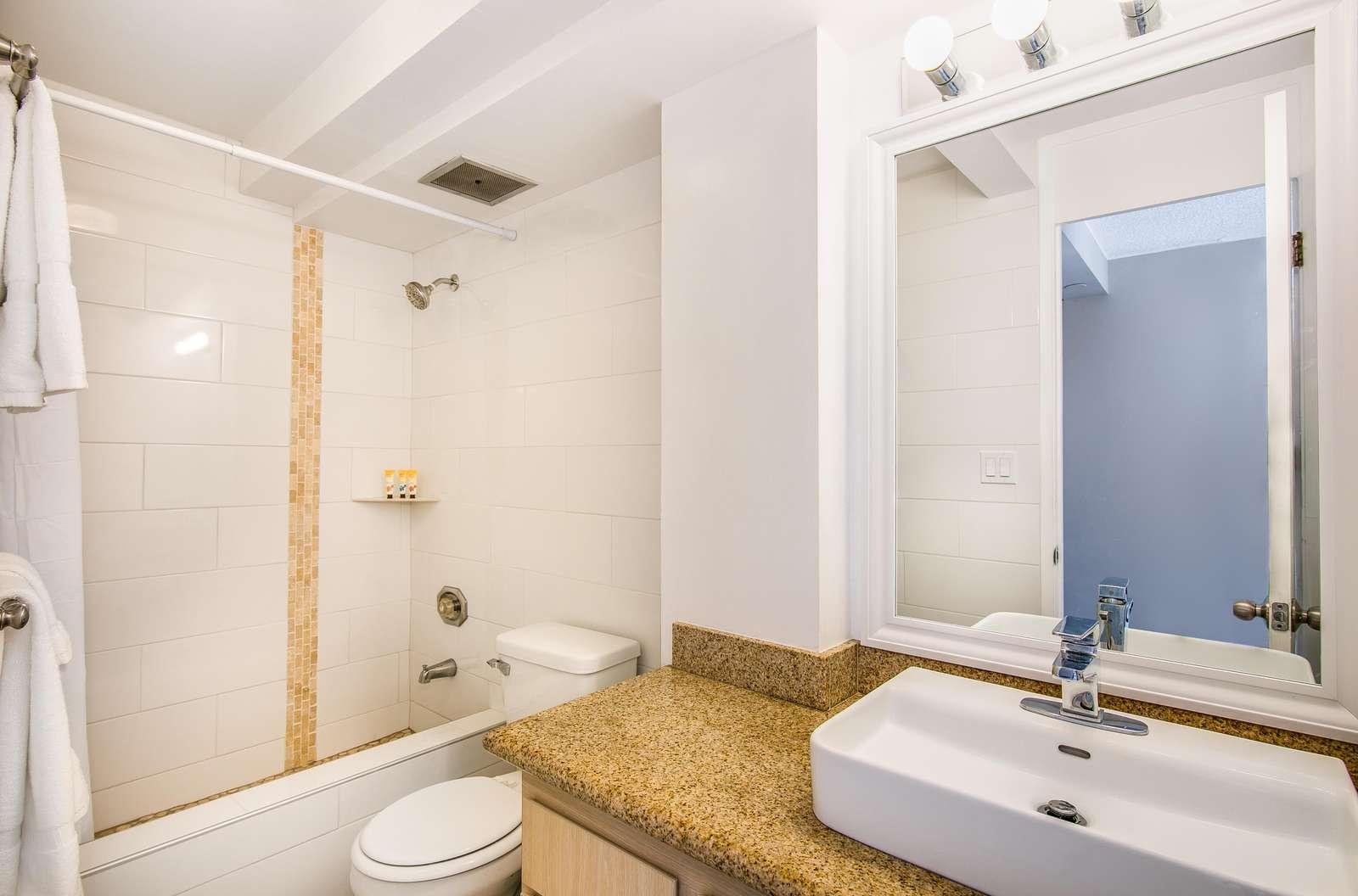 Bright Modern and super clean bathroom