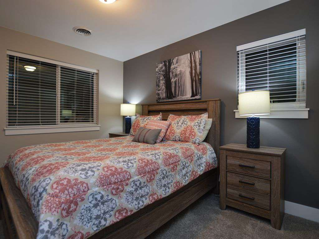 Plush queen bed upstairs