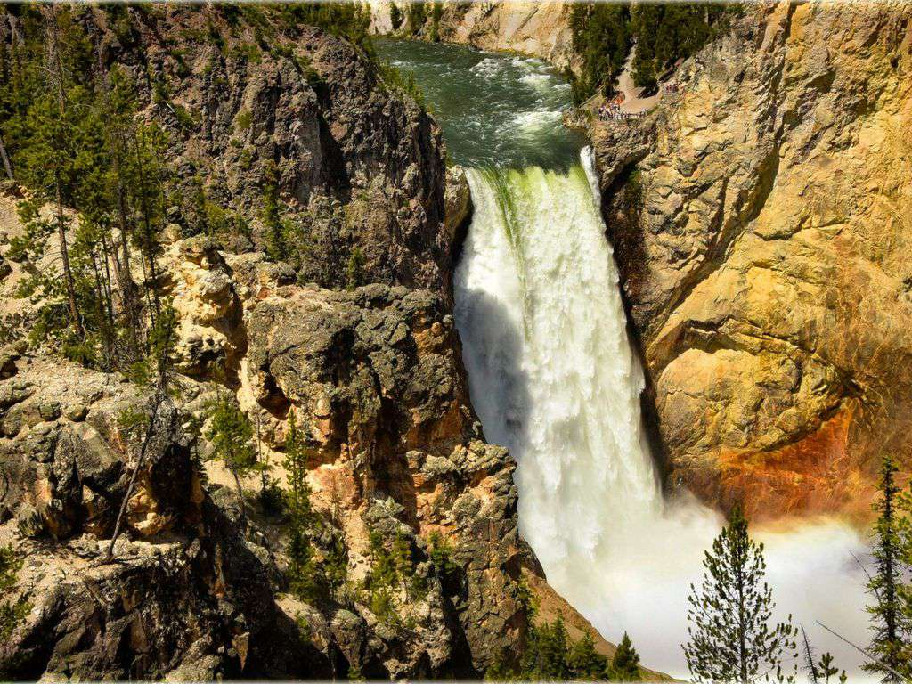 Spectacular falls in Yellowstone!