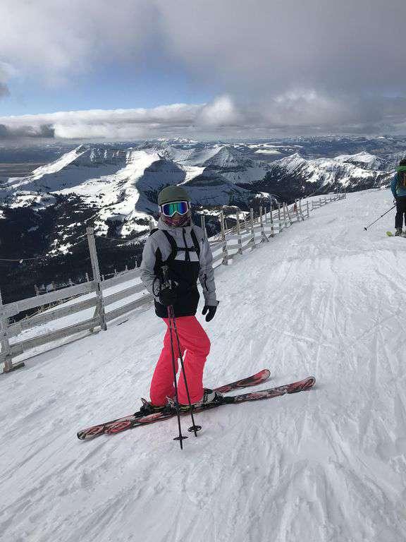 At the top of Lone Peak at Big Sky