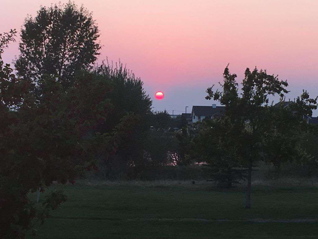 Captivating sunsets! Partially can be seen from living room window.