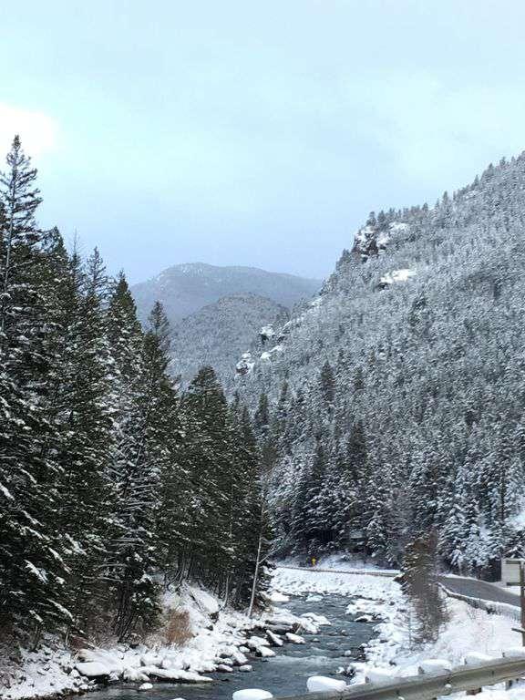 Winter wonderland!  On your way to Big Sky!