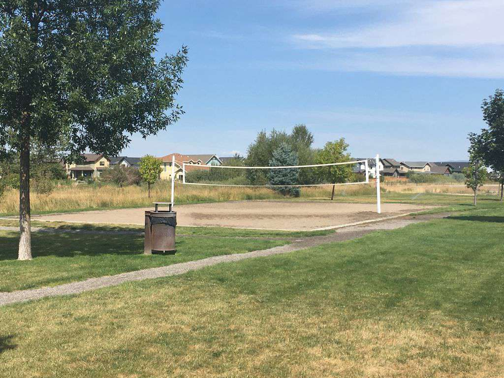 Steps from the front door.  Sand volleyball court.