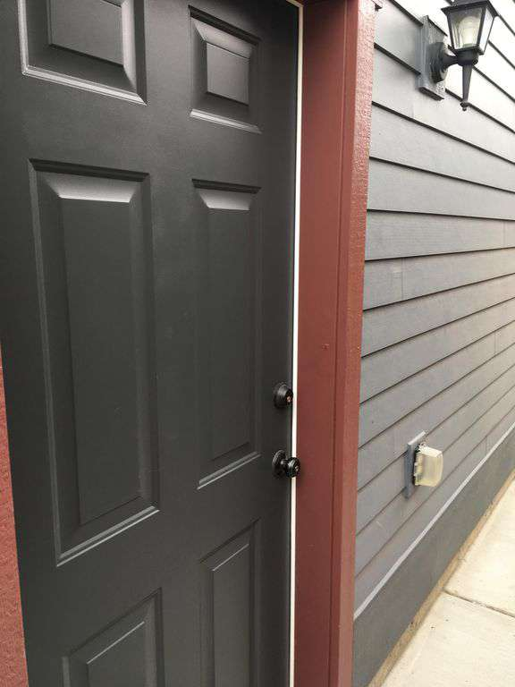 Front door inside of gate
