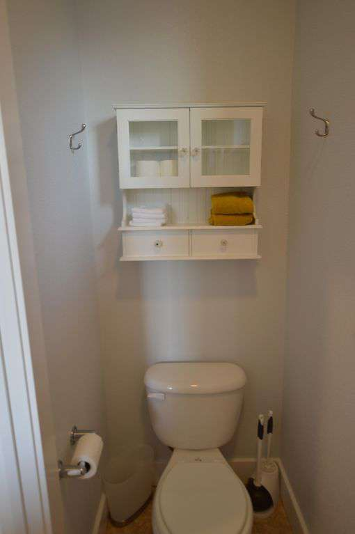 Upstairs bathroom with shower!