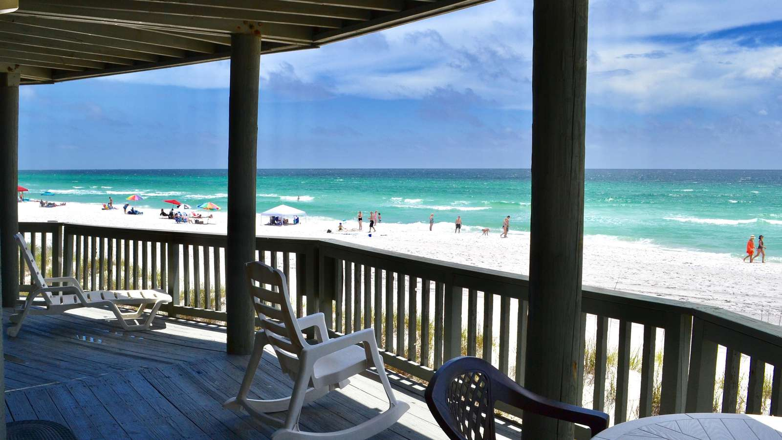 Panorama - Upper - Beautiful Beachfront Home!  Rent One Level or Two!