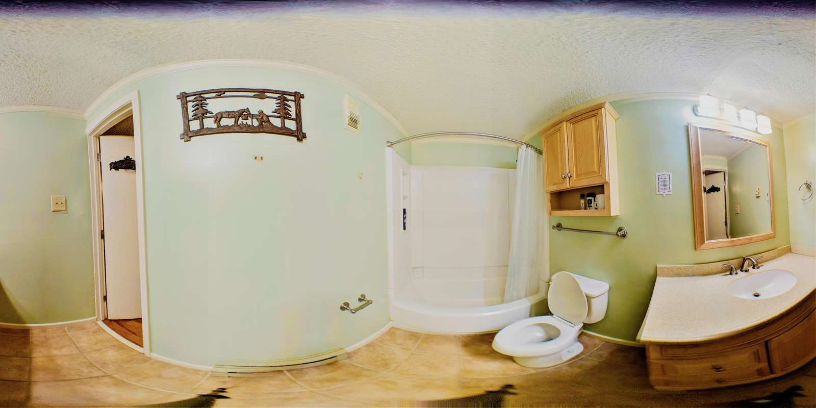 Wide Angle picture of Hall Bathroom