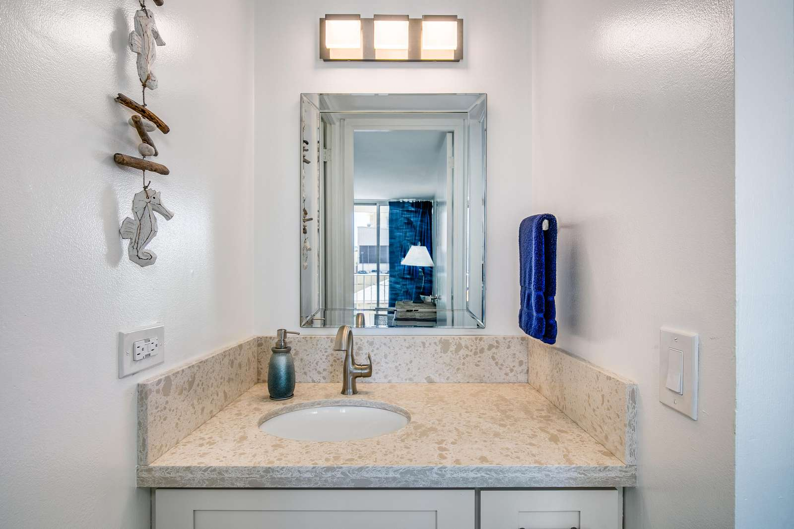 Bright and Immaculate Vanity area