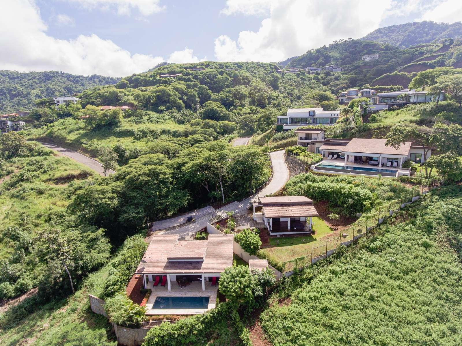 Aerial view, casa tranquila at Mar Vista