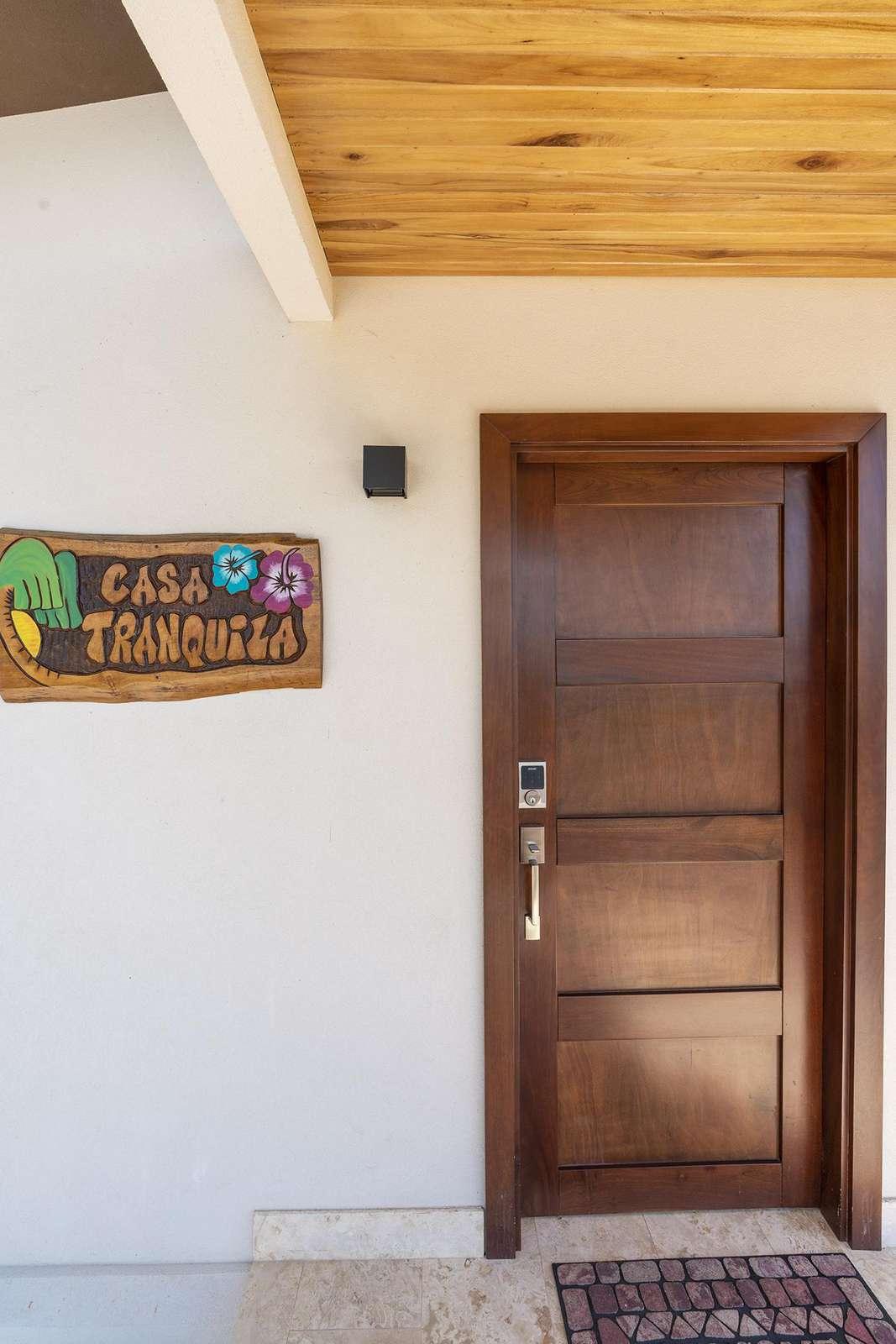 Main entrance at Casa Tranquila