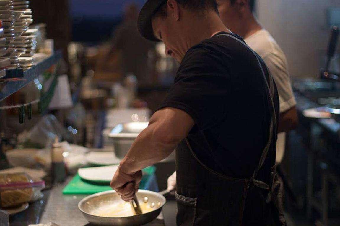 Chef Frankie hard at work