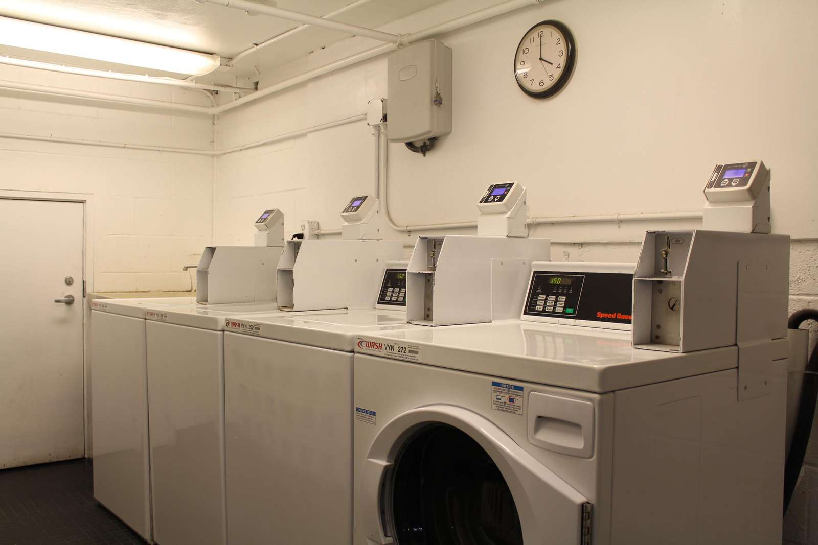 Several coin-op washers & dryers on premises for your use.
