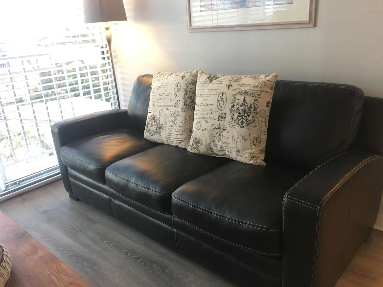 New sofabed installed April 2019