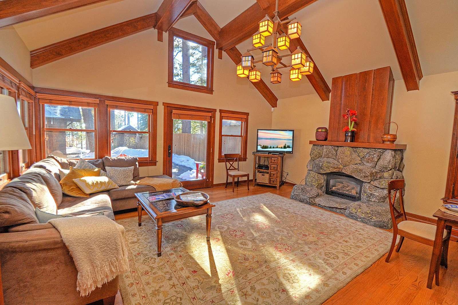 Lake Forest Cottage living room area