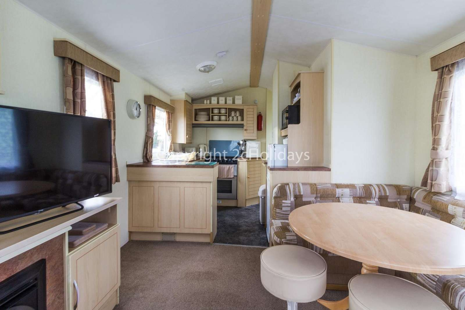 Don't forget to download your loyalty card after staying in this caravan for hire.